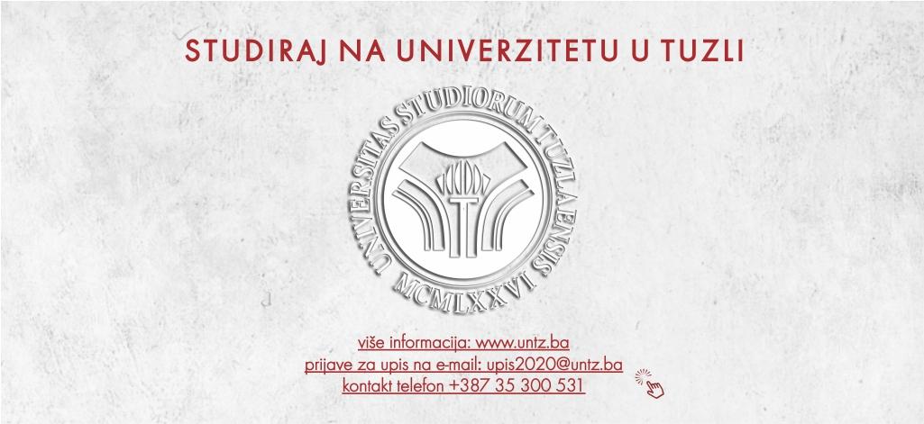 Univerzitet u Tuzli -Vodič za buduće studente ak. 2020/21. god.