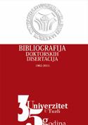 Bobliografija doktorskih disertacija Univerziteta u Tuzli