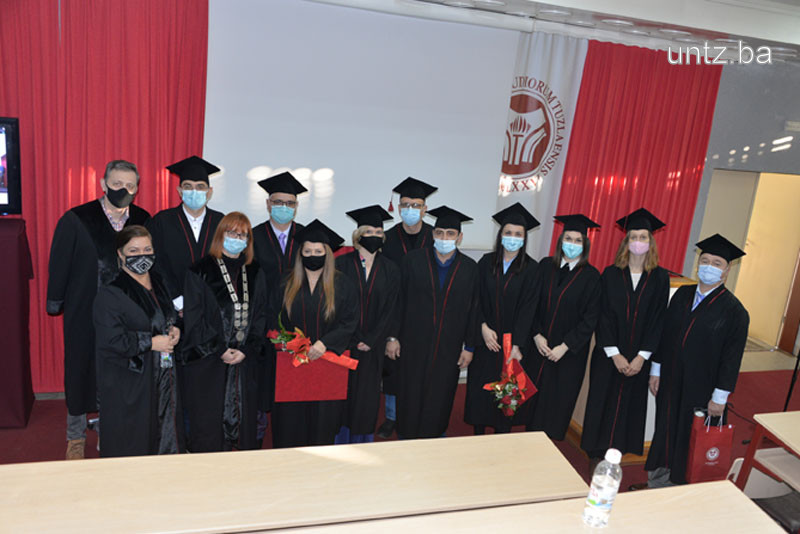The University of Tuzla promoted 14 doctors of science