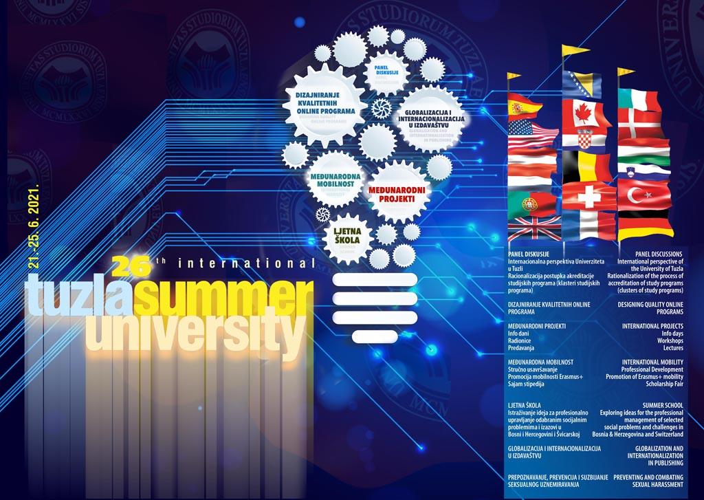 UNIVERZITET U TUZLI - 26. LJETNI UNIVERZITET LJUT - 2021